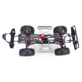 Metal CNC Carbon Frame 313mm Wheelbase Reverse Transmission Axle Car Frame with Power Pack for 1/10 AXIAL SCX10 RC Car - Portal Axle