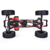 Metal CNC Carbon Frame 313mm Wheelbase Crawler Cars Parts for Jeep Wrangler 1/10 SCX10 Car - Straight Bridge