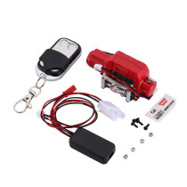 Single Motor Winch Simulated Metal Winch with Remote Controller for 1/10 Trax-4 D90 SCX10 RC Car