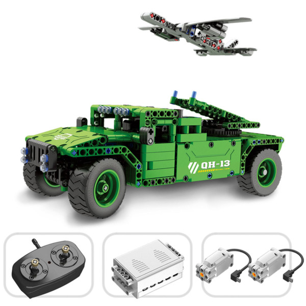 506Pcs 2.4G Remote Control Vehicle-mounted Drone DIY Assembly Building Block Vehicle