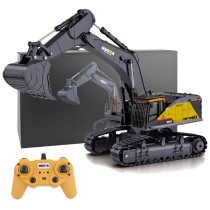 HUI NA 1:14 22CH 2.4G RC Excavator Engineering Vehicle Model Alloy Construction Truck