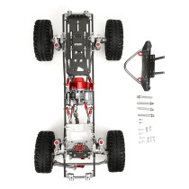 313MM Wheelbase Model Metal Car Frame Set for 1/10 RC Climbing Car SCX10/90046 D90