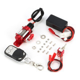 Metal Electric Winch Steel Rope Hook with Wireless Remote Controller for 1/10 Traxxas HSP Redcat HPI TAMIYA CC01 RC Crawler