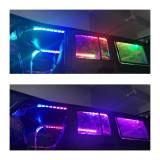 2Pcs 8cm Remote Control 10 LEDs Colorful Car Lights Color Change Light Strip for 1/10 SCX10 TRX4 D90 90046 RC Car