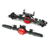 Metal Front Rear Back Propagation Axle for 1/10 SCX10 D90 90046 90047 RC Car with 313mm Wheelbase