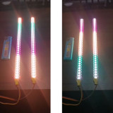 2Pcs 24cm Remote Control 34 LED Colorful Car Lights Color Change Light Strip for 1/10 SCX10 TRX4 D90 90046 RC Car