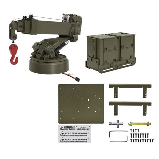 HG-P803 1:12 Upgraded Crane Lifting Arm DIY Spare Parts for Military Truck of 8 Wheels P802 - Olive Drab