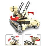 457Pcs 2.4G Remote Control Tank DIY Assembly Building Block Vehicle