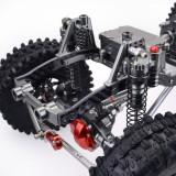 Metal CNC Carbon Frame 313mm Wheelbase Crawler Car Parts for 1/10 AXIAL SCX10 RC Car - Straight Bridge
