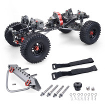 Metal CNC Carbon Frame 313mm Wheelbase Crawler Car Parts for 1/10 AXIAL SCX10 RC Car - Straight Bridge
