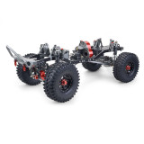 Metal CNC Carbon Frame 313mm Wheelbase Crawler Cars Parts with Power Pack for 1/10 AXIAL SCX10 RC Car - Straight Bridge