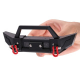 Metal Front Rear Bumper with LED for Jeep Wrangler SCX10 TRX4 D90 90046 90047 RC Car
