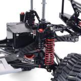 Metal CNC Carbon Frame 313mm Wheelbase Reverse Transmission Axle Car Frame for 1/10 AXIAL SCX10 RC Car - Portal Axle