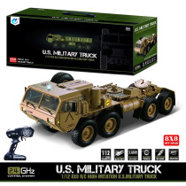 1:12 8 x 8 R/C 2.4G Electric Remote Control Militray Truck Model All Terrin Truck Kit - Sound and Light Version