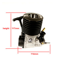 FC 28 Engine Pull Starter 4.58cc Engine for 1/8 Methanol Fuel RC Model Car (with Spark Plug)
