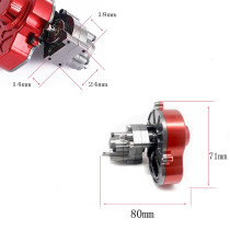 Metal Sealed Transmission Gearbox Transmission Box for 1:10 AXIAL SCX10 Climbing Car - Titanium Color
