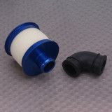 Metal Head Air Cleaner Air Filter Compatible with Toyan Engine for 1:10 Gas Powered Model Car - Random Color