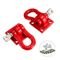1 Pair of Rescue Button Climbing Car Simulation Hook with Screw for 1:10 RC Car - Red