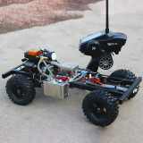 1:10 DIY Modified Gas Powered RC Car without Car Body Shell (with TOYAN FS-S100G / 4CH 2.4g remote control / One Key Remote Start Engine / Automatic Clutch)