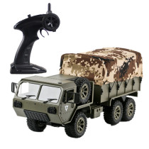 2.4G M977 RC US Military Trucks 6WD Simulation Truck Model Car with Canvas Accessories - Olive Drab