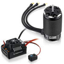 EzRun Max6 160A Brushless Waterproof ESC with 4985SL 1650KV Brushless Motor for 1/6 RC Car