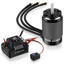 EzRun Max6 160A Brushless Waterproof ESC with 5687SL 1100KV Brushless Motor for 1/6 RC Car