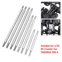 8Pcs Metal Chassis Lever Rod for 1/10 Traxxas Trx4 324mm Wheel Base RC Crawler Car