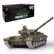 1:16 Russian T-72 Main Battle Tank 2.4G Remote Control Model Military Tank with Sound Smoke Shooting Effect