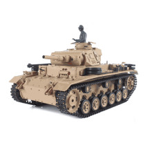 1:16 German Ⅲ H Tank 2.4G Remote Control Model Military Tank with Sound Smoke Shooting Effect