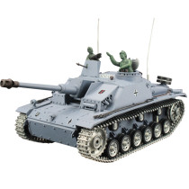1:16 German III-F8 Assault Tank 2.4G Remote Control Model Military Tank with Sound Smoke Shooting Effect - Metal Ultimate Edition