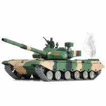 1:16 Chinese ZTZ 99A MBT 2.4G Remote Control Model Military Tank with Sound Smoke Shooting Effect