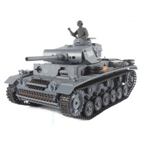 1:16 German III L Tank 2.4G Remote Control Model Military Tank with Sound Smoke Shooting Effect