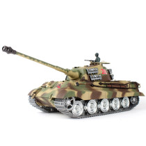1:16 German Henschel Tiger King Battle Tank 2.4G Remote Control Model Military Tank with Sound Smoke Shooting Effect - Metal Ultimate Edition