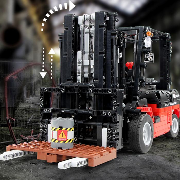 Technic RC Forklift, 1719+Pcs 1/10 2.4G RC Fork Lift Truck Building Blocks Construction Vehicle Kit