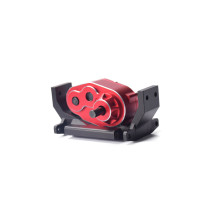 Metal Gearbox Transfer Case for 1/10 SCX10 D90 RC Crawler Off-road Vehicle