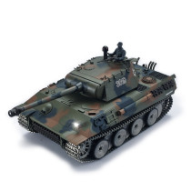 1:16 German Leopard Heavy Tank 2.4G Remote Control Model Military Tank with Sound Smoke Shooting Effect