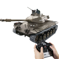 1:16 American Walker Bulldog A41A3 Light Tank 2.4G Remote Control Model Military Tank with Sound Smoke Shooting Effect