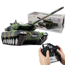 1:16 German Leopard 2A6 Main Battle Tank 2.4G Remote Control Model Military Tank with Sound Smoke Shooting Effect
