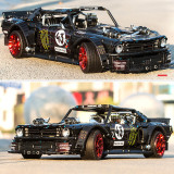 1962 Ford Mustang I Model 2943Pcs Technic Custom Construction Toys Building Block Sports Car with RC Motor