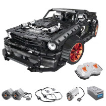 Technic Ford Mustang Hoonicorn 3168Pcs Technic Custom Construction Toys Kids Building Blocks Sports Car Kit