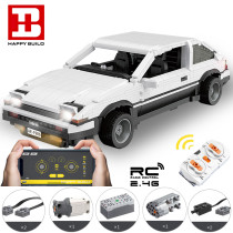 Technic AE86 RC Car Model, 1550Pcs Small Particle Private Vehicle Building Blocks Toy Car
