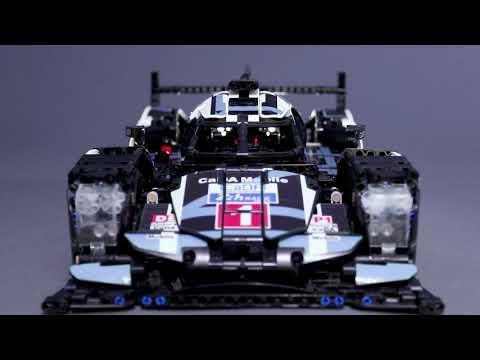 1586Pcs Building Block Stylish DIY RC Racing Model Assembling Car LED Headlight