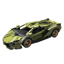 3758Pcs Technic MOC Lamborghini Sian 1:8 DIY Building Block Toys -Mould King 13057
