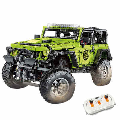 Technic Jeep Wrangler Rubicon Model 2343Pcs Assembly Off Roader Custom Construction Building Blocks Kits for Kids with RC Motor