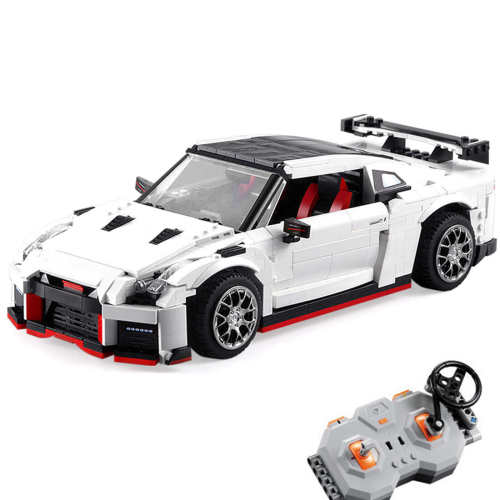 CADA 1322Pcs Technic RC GTR R35 Assembly Sports Car Building Blocks Race Car Model with Motor Kit