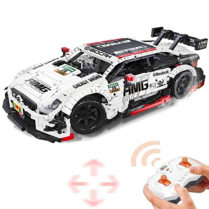 2289Pcs Moc Technic RC Mercedes Benz AMG C63 Model 1/8 Construcion Vehicle Bricks Toy