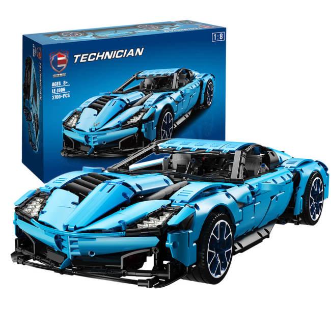2700Pcs Moc Technic Corvette 1:8 Sports Car DIY Building Block Model Toys