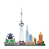 526Pcs Moc Wuhan Skyline Tower DIY Building Block Construction Model Toys -Rcfancier