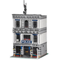 3128Pcs Police Station Building Block Model DIY Construction Toys -Rcfancier