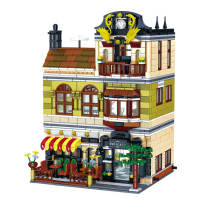 1326Pcs Moc Chinese Restaurant Building Block Model DIY Assembly Construction Toys -Rcfancier